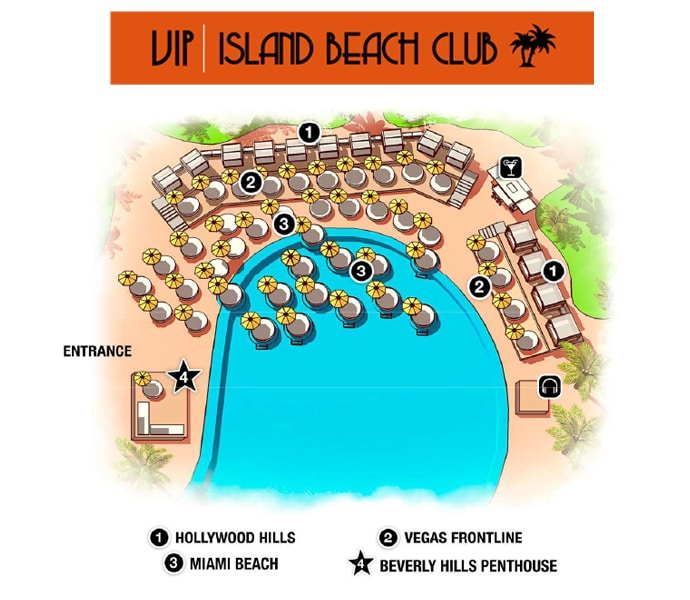 island beach club vip layout