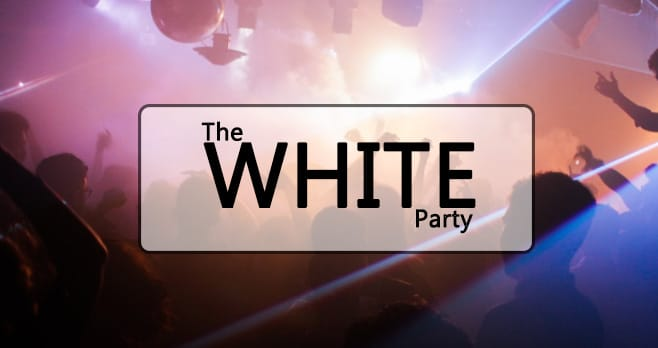 White Party Header