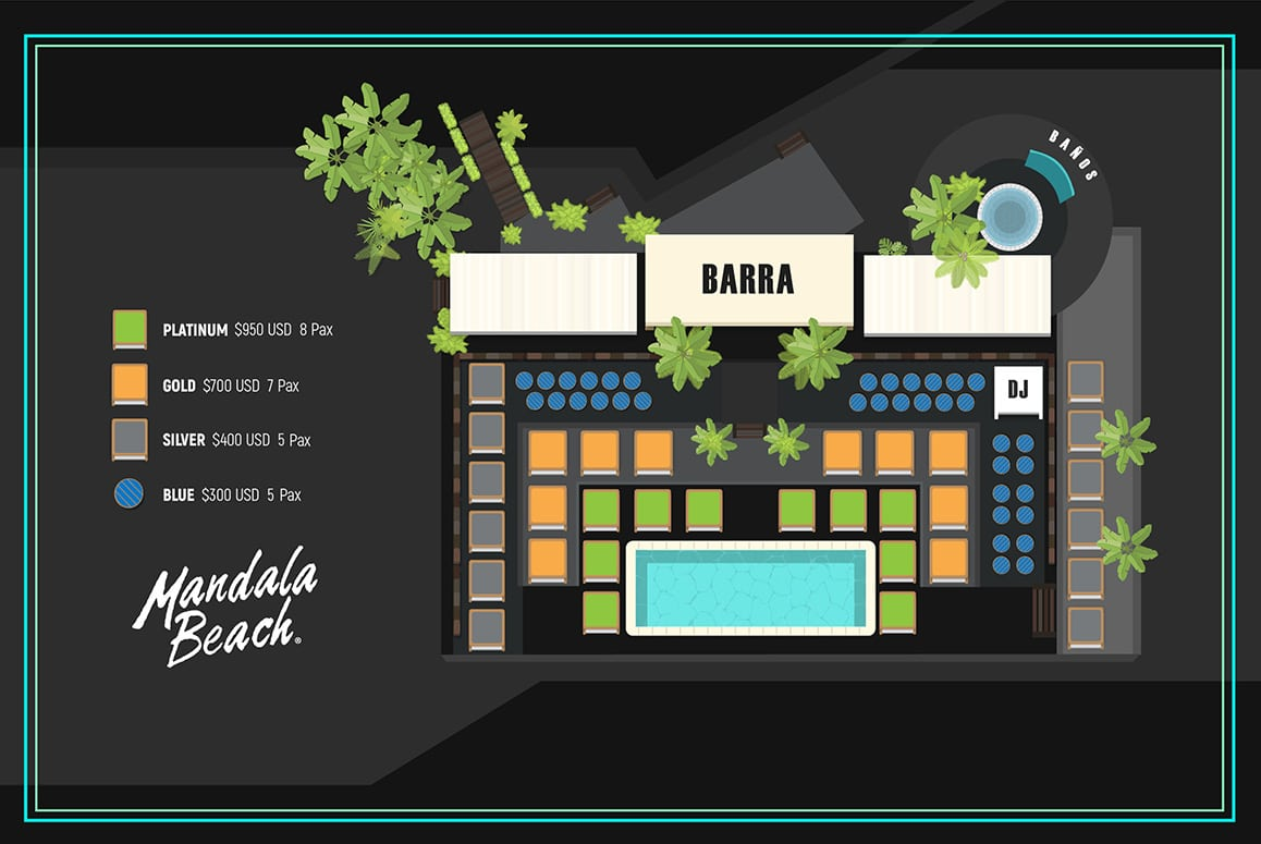 mandala beach club night cancun