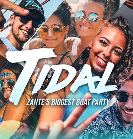 tidal boat party zante